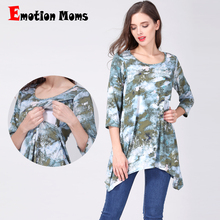 Emotion Moms pregnancy Maternity clothes nursing clothing Nursing Top Breastfeeding T-shirt For Pregnant Women maternity tops недорого