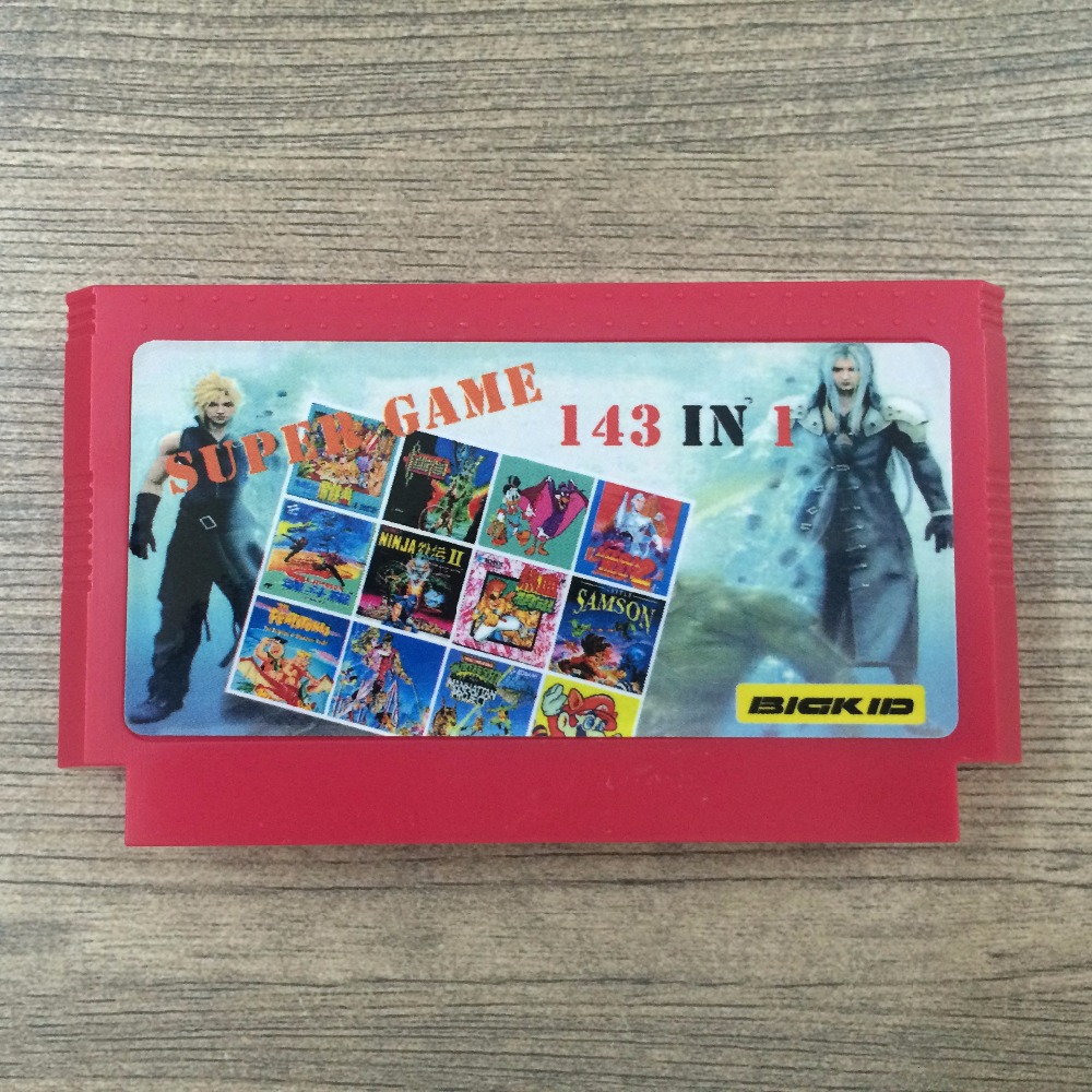 3 Colors Top Quality 60 Pin 8 bit Game Cartridge 143 in 1 with game Kirby's Adventure Star Wars Earthbound Final Fantasy 1 2 3 недорго, оригинальная цена