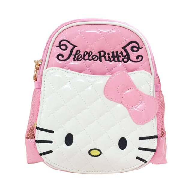 ac9eb62662 Lovely Cartoon Hello Kitty Kindergarten Children School Bag Girls  Waterproof Alleviate Burden Both Shoulders Backpack roblox