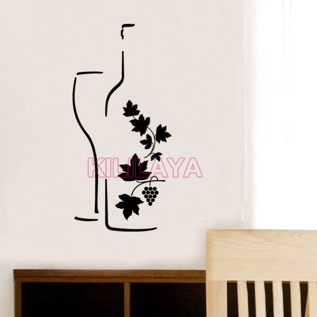 Stickers Cuisine Wine Design Vinyl Wall Decals Removable Wallpaper - Vinyl wall decals removable