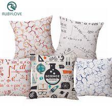 RUBYLOVE Чехлы для подушек с геометрическим рисунком математическая химия формула принт Наволочка декоративная наволочка чехол для дивана