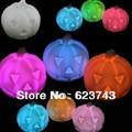5Pcs free shipping 7 Colors Changing Pumpkin LED Night Light Decoration Candle Lamp, LED Hallowmas Pumpkin