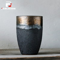 280ml Japanese Coarse Pottery Coffee Mug Teacup Jingdezhen Handmade Ceramic Master Tea Cup Water Mug Creative Vintage Home Decor