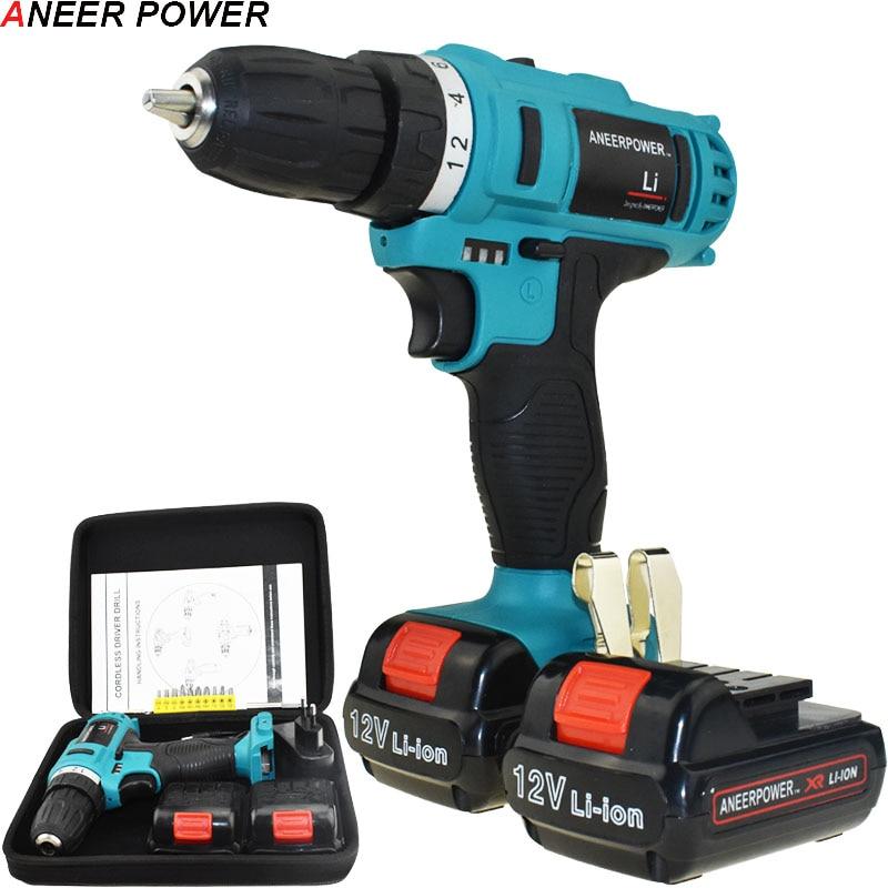 12v Power Tools Electric Screwdriver 1 5Ah Li ionBattery Capacity Drill Electric Drill Mini Batteries Screwdriver