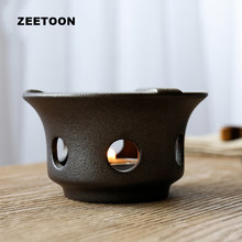 Japanese Style Ceramic Small Stove Warm Tea Stoves Candle Heater Chinese Kung Fu Tea Set Accessories Teapot Base Night Lights(China)