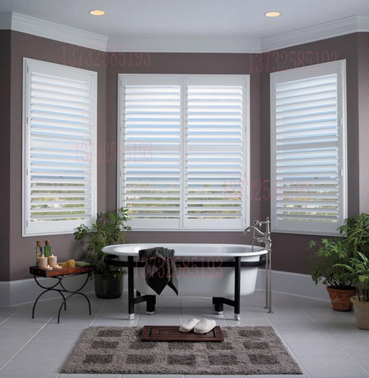 Kundenspezifische Holz Shutter Jalousien Atmungs Bad Fenster