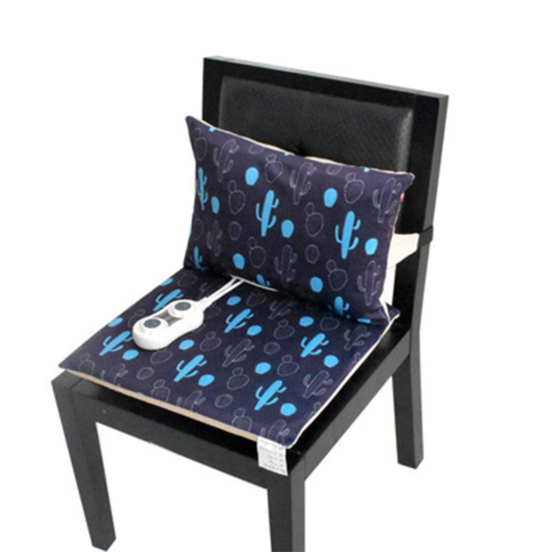 Electric Heating Mat Office Back Heated Chair Cushion and Back Cushion Electric Blanket Winter Warm Pad 220V