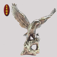 Exquisite Brass eagle figurine, brass statue for home business decoration copper wholesale Decoration real Brass