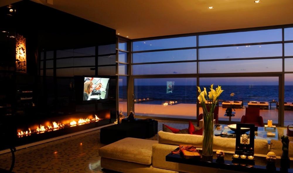 On Sale Indoor Decorative Deluxe Smart Control Fireplace
