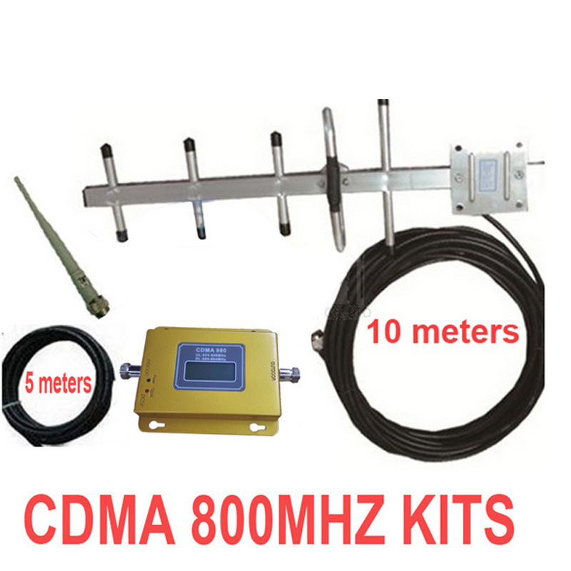 Home Use LCD Display CDMA 800mhz Repeater W/ Antennas+15m Cable CDMA 850Mhz Mobile Phone Signal Booster Repeater Cdma Enlarger