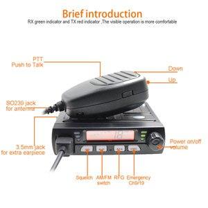 Image 3 - Mini CB 40M de radio móvil para coche, transceptor inteligente AM compacto para aficionados, de emergencia, 25.615    30.105, AR 925, 8W, 40CH, 9/19