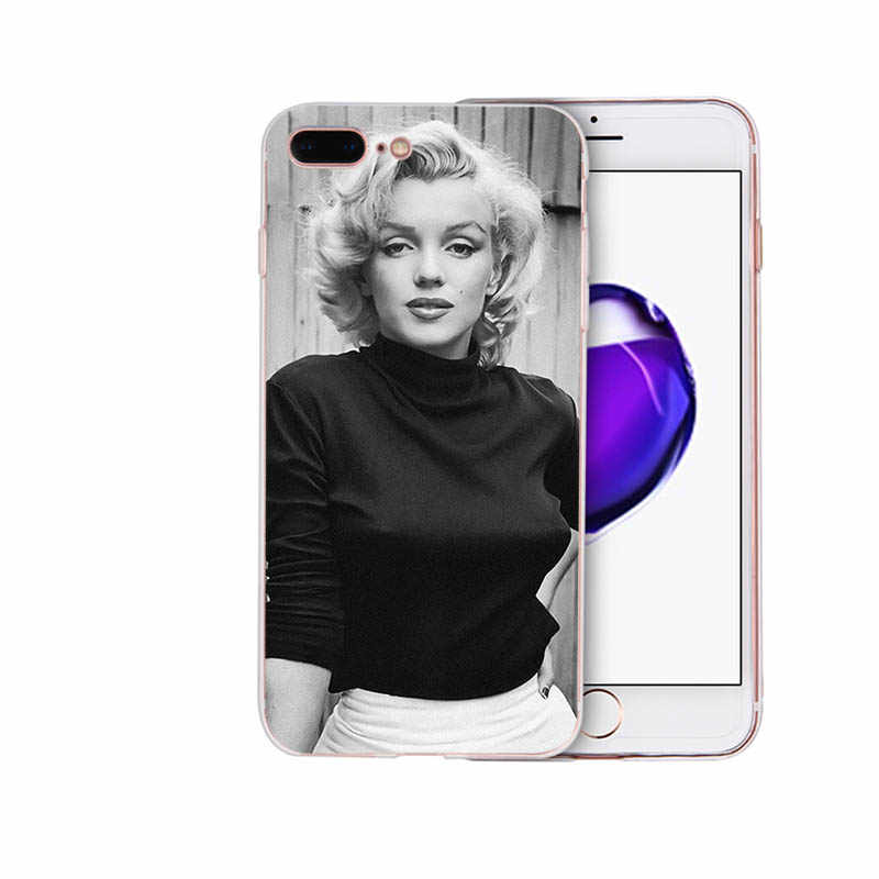 Marilyn Monroe soft cover for iphone 7 8 6s 6 plus phone case x xr xs max se 5s 5 silicone classic Coque lovely Sexy shell