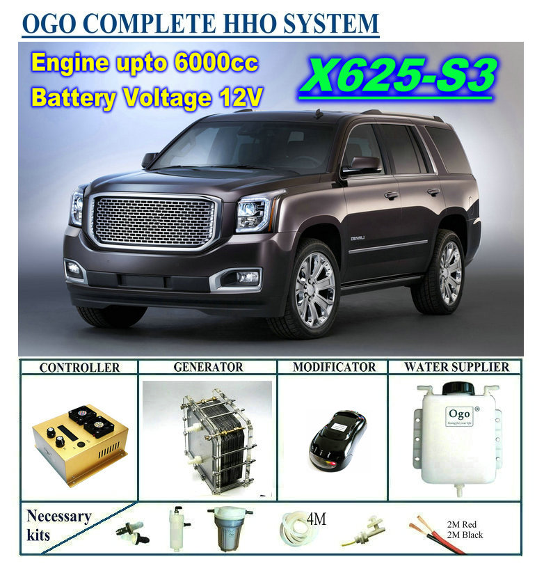 OGO Complete HHO System X625-S3 Intelligent PWM Controller CE&FCC Dynamic EFIE Chip Upto 6000CC