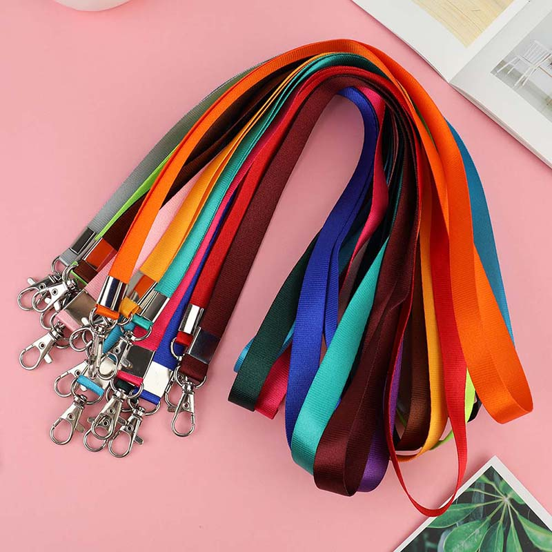 Hanging Neck Rope Lanyard Mobile Phone Straps Camera USB Holder ID Pass Card Name Badge Holder Keys Metal Clip