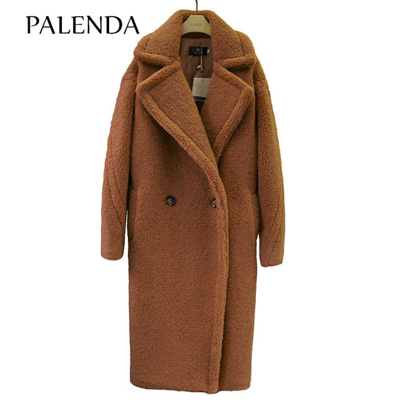 2019 new teddy coat faux fur long coat women lamb fur coat 4 color