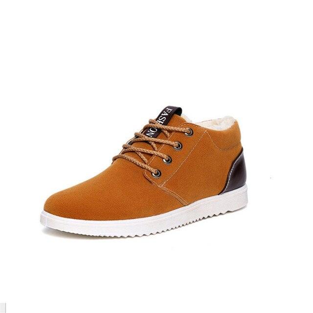 d33439683fb 39-44 botas de hombre de invierno de piel forro de invierno zapatos hombres  marrón