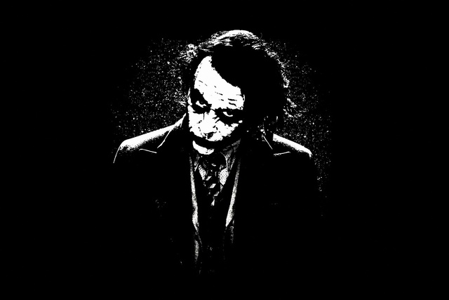 Artistic black and white cool joker living room home art decor wood frame fabric poster print