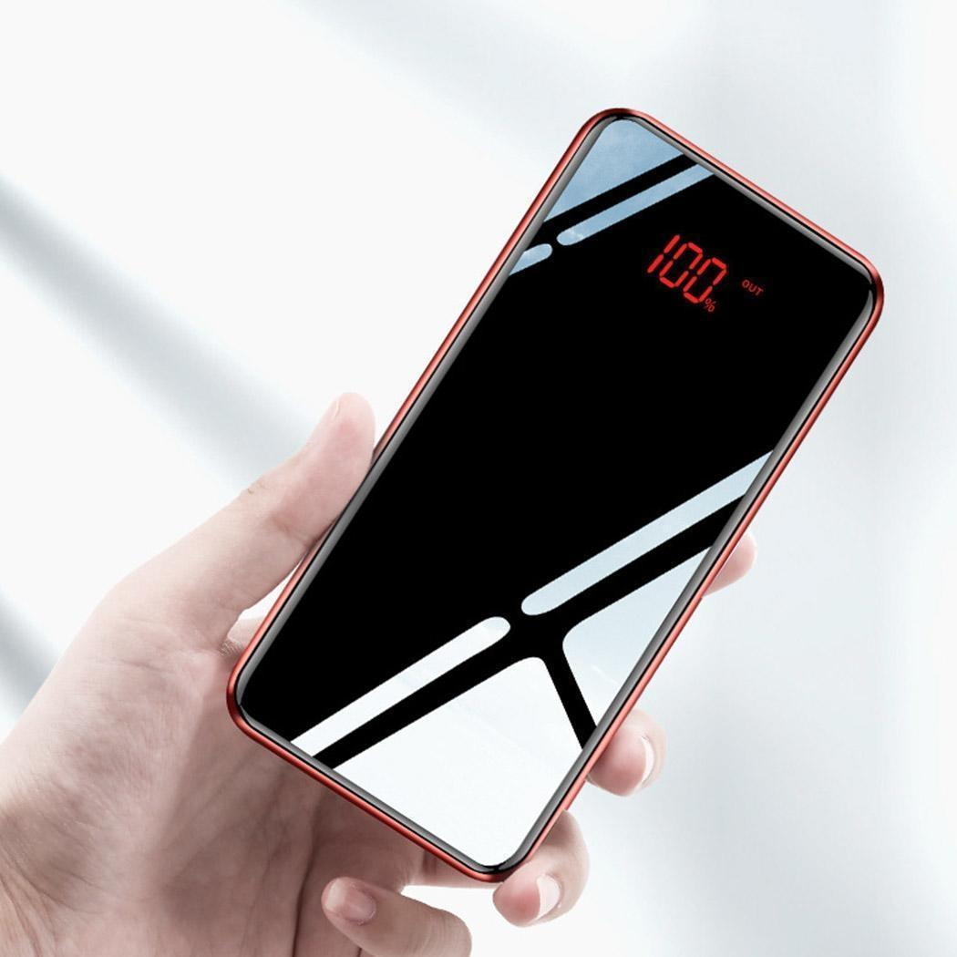 Cadillac Generous 30000mah Type-c Power Bank Mirror Portable Fashion Led Mobile Phones External Charging Pack Powerbank For Iphone Xiaomi Samsung Automobiles
