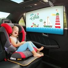 Детский автомобильный мультяшный солнцезащитный козырек для окна, занавеска, универсальный автомобильный солнцезащитный козырек для бокового окна, занавеска, регулируемая Магнитная летняя шторка, УФ-пленка