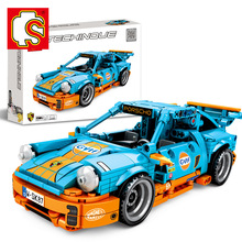 Sembo Diamon Nano Blocks Porscho Sports Cars Mechanical password Technic Voiture  Building Brick Educational Toy Gift