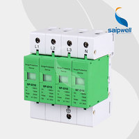 90*72*65mm AC 385V 30KA Voltage Protector, Surge Protector,Surge Protective Device 4P,CE UL Approval