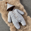 Девушки комбинезон ребенка осенью и зимой ребенка зимой новорожденного набор ватные куртки утолщение пижамы