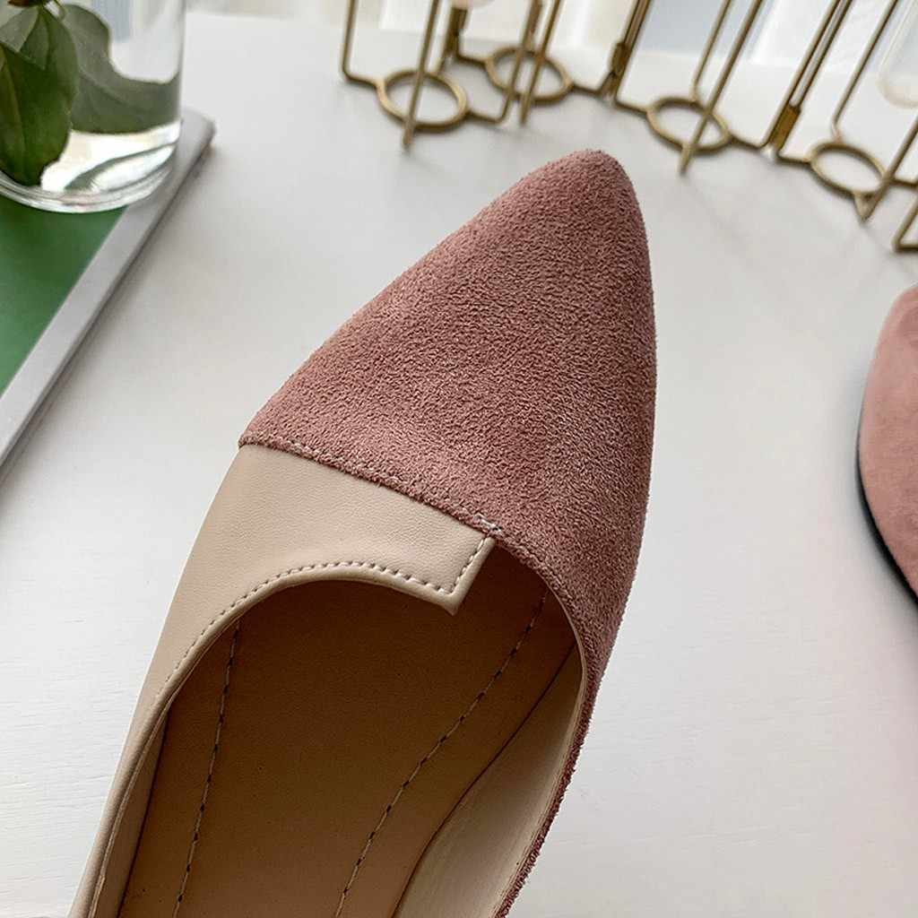 Schoenen Vrouw Wees Teen Patchwork Enkele Schoenen Splice Kleur Flats Ballerina Ballet Platte Slip Op Schoenen Sneakers Zapatos De Mujer