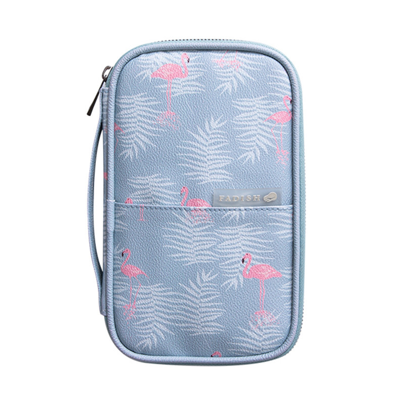 Female PU Passport Cover Wallet Travel Multi-Function Credit Card Holder Case Package Multi-Card ID Document Storage Pack Clutch