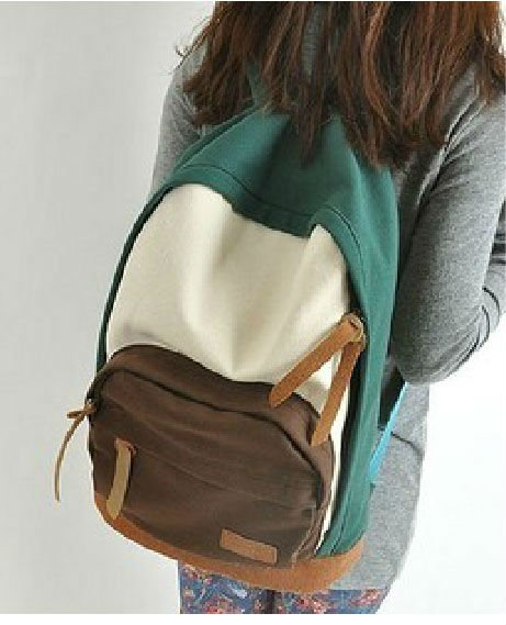 New Fashion school bags for teenagers, korean style college canvas backpack women, travel shoulder bag, discount lady backpack korean edition new middle school students college style double shoulder bag leisure pack men and women s travel backpack