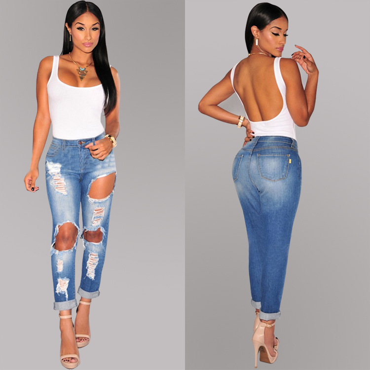 Compare Prices on Ripped Skinny Jeans- Online Shopping/Buy Low ...