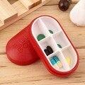 Новый Красный Таблетки Коробка Для Хранения Портативный Путешествия Аварийного Аптечки 6-слот Медицинский Держатель Pill Box Медицина Дело Наркотиками