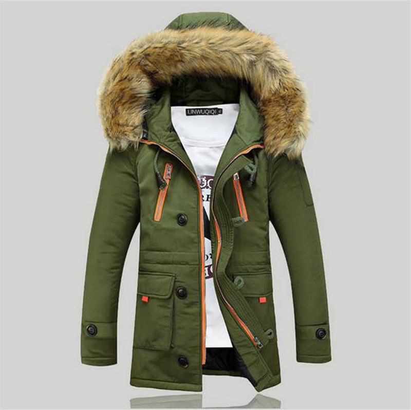 2017 New Winter Mens Parka Clothing Thicking Men Jacket Coat With Fur Hood high Quality Jackets Men plus size Vestidos hot sale hot sale winter jacket men fashion cotton coat warm parka homme men s causal outwear hoodies clothing mens jackets and coats