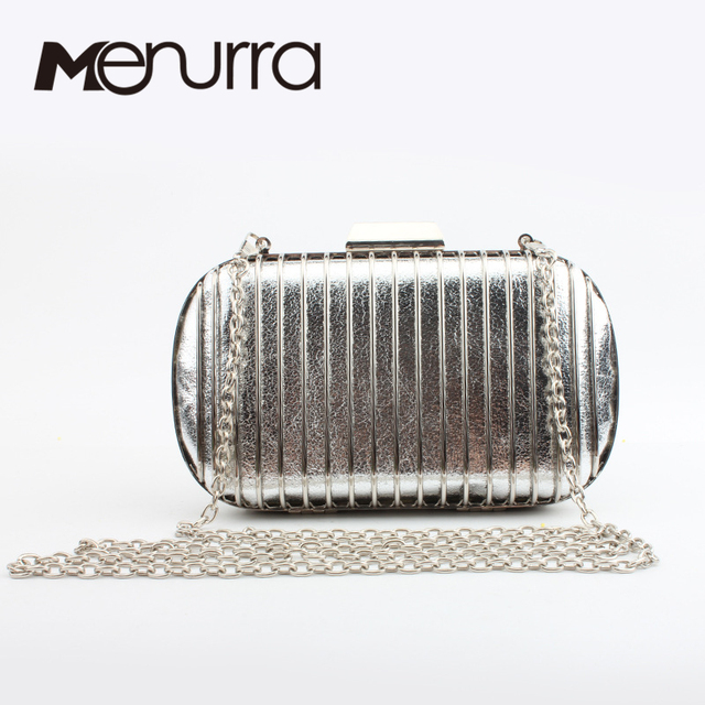 Women Handbags Metallic Evening Purse Metal Clutches Silver Beaded Bridal  Wedding Box Clutch Bags Bolsos Mujer Party 860615b9b737