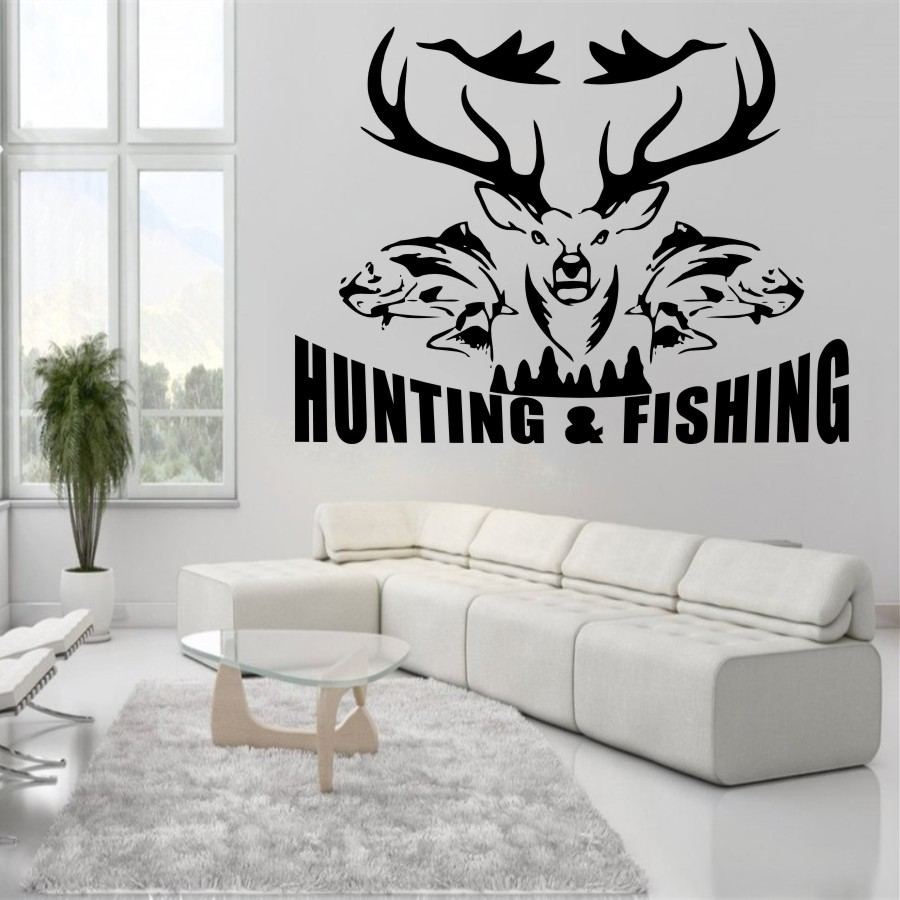 Hunting And Fishing Birds Fish Stag