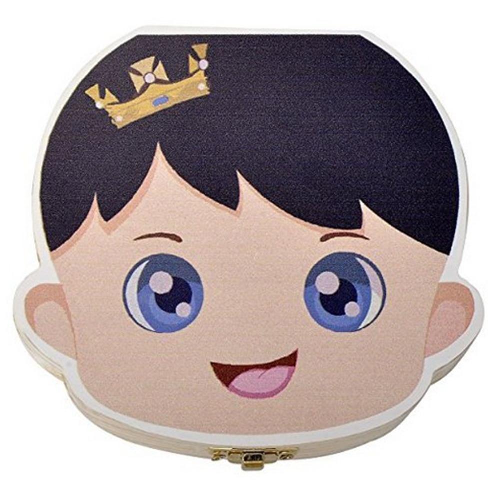1 stück Holz Kinder Baby Zahn Box Organizer Milch Zähne Holz Lagerung Box Junge Mädchen Sparen Zähne Erste Halter Andenken drop verschiffen