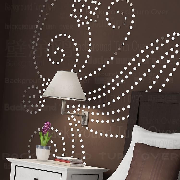 Kreative INS anpassen feder DIY kinderzimmer schlafzimmer home TV hintergrund wand 3D acryl spiegel aufkleber wand aufkleber - 3
