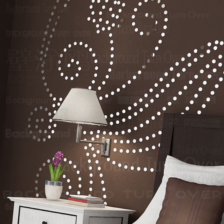 DIY plant tree pattern round dot 3d wall sticker home decor large wall mirror bedroom bed head decal stickers wall poster R101 - 3