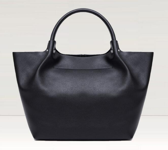 New in women genuine leather soft casual solid handbag cowskin totes large bagNew in women genuine leather soft casual solid handbag cowskin totes large bag