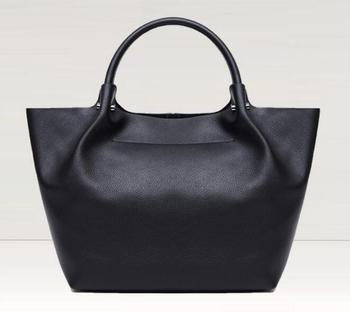 New in women genuine leather soft casual solid handbag cowskin totes large bag