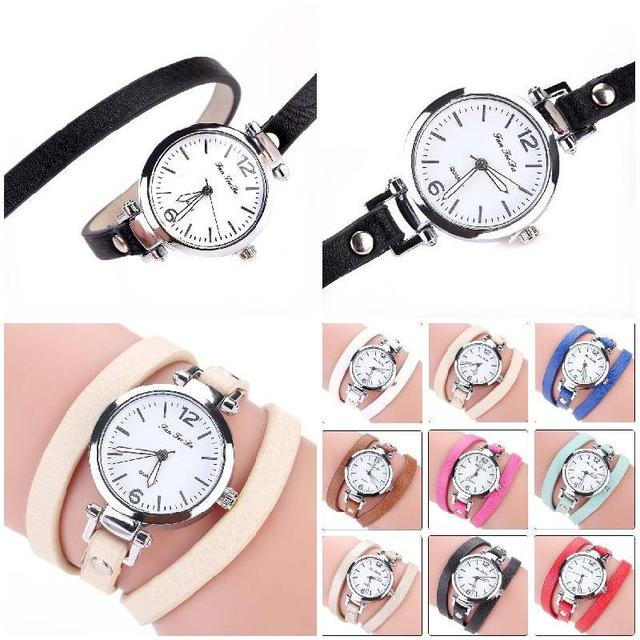 FANTEEDA Bracelet Watch 2017 Fashion New Summer Style Leather Casual Wristwatch Women Dress Watches (size:60cm) TT@88