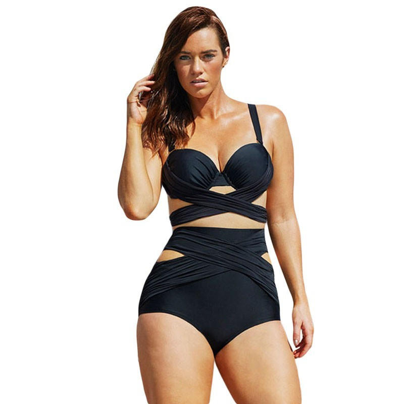 f04ae779f7cc9 New high waist swimsuit Sexy halter string strappy bikini 2018 swimwear  women cutout bathing suit Biquini maillot de bain V190B