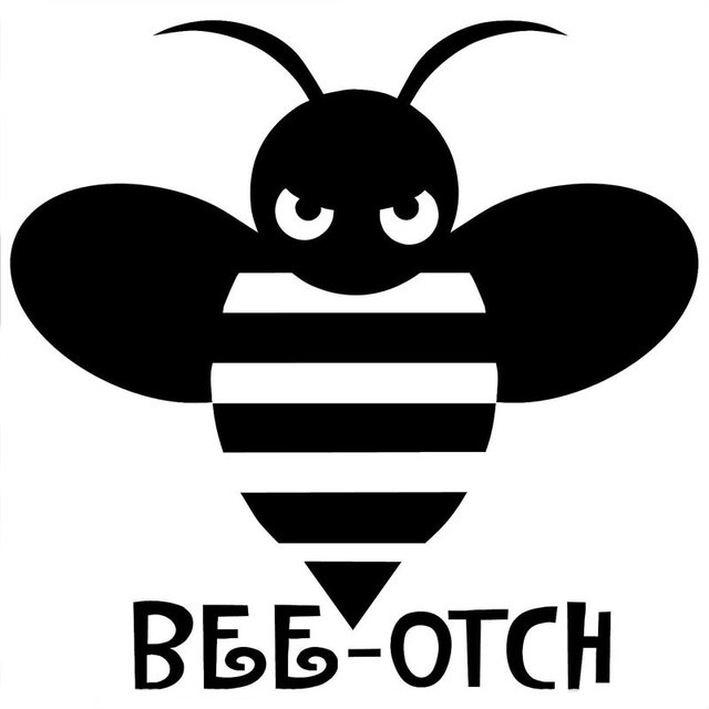 13 1cm12 7cm bee otch decal jdm import tuner truck girly funny car stickers