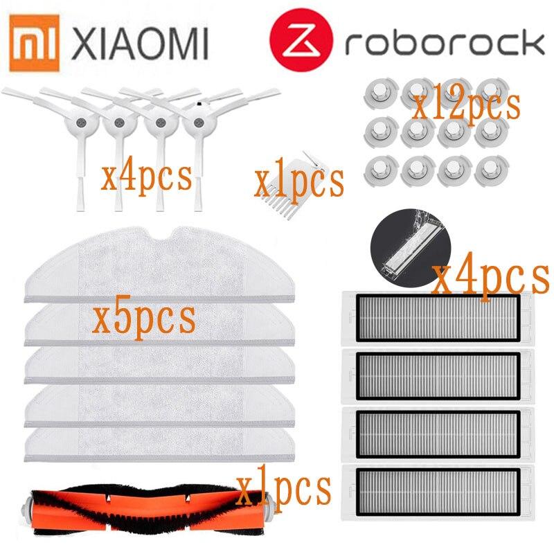 Main Brush HEPA Filter Side Brush Mop Cloth Suitable For Xiaomi Vacuum 2 Roborock S50 Accessories Xiaomi Mi Robot Vacuum Parts