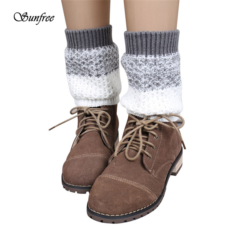 Sunfree 2016 New Design Jacquard Knitted Leg Warmers Socks Boot Cover Brand New and High Quality Dec 28