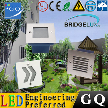 10 PCS/lot  70*70mm deck light 1*3w led step light waterproof outdoor wall light low-power smd led/high power 110-120lm/w