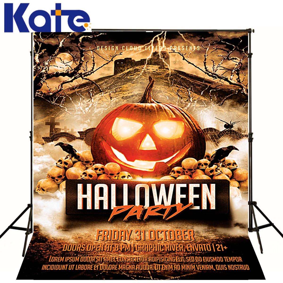 Photo Background Lantern Pumpkins  Photography Backdrops Halloween Skull Bat Castle For A Photo Shoot