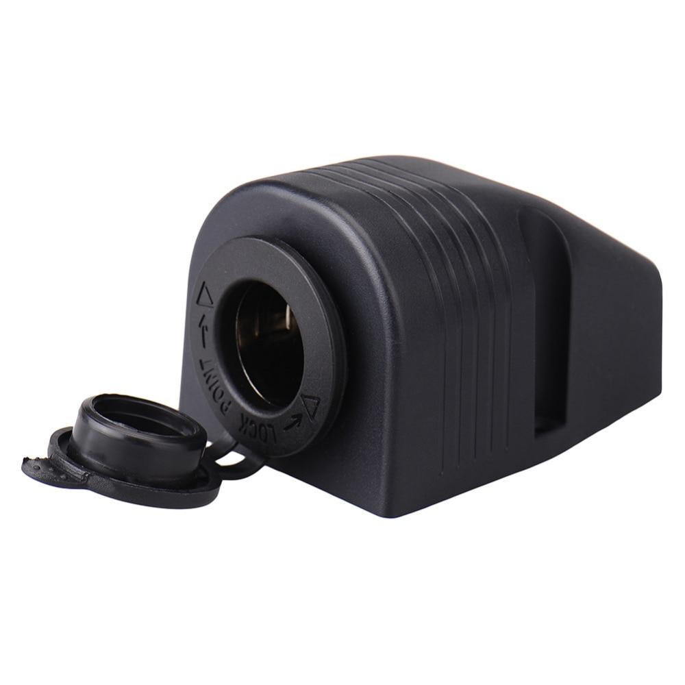 12V/24V Waterproof 120W Black Tent Style Motorcycle Car Cigarette Lighter Socket Adapter Car Accessories