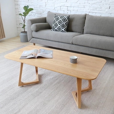 Creative living room simple wooden small coffee table wooden solid wood coffee tea table coffee table simple modern creative small coffee table round folding tea table small size living room wood tea table