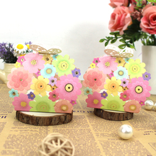 50pcs Wedding Favors  Gifts Box Flower Butterfly Laser Elegant Luxury Decoration Party Event Supplies Paper Candy Bag For Guests