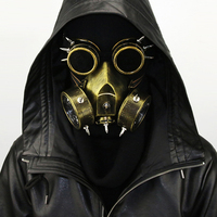 Punk Style Gothic rivet Mask Gold Men / silver Women Carnival Makeup Cosplay Party Steampunk Gas Mask Anime Halloween